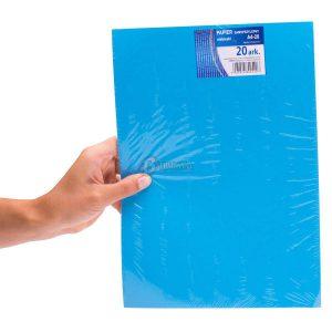 papier samoprzylepny niebieski